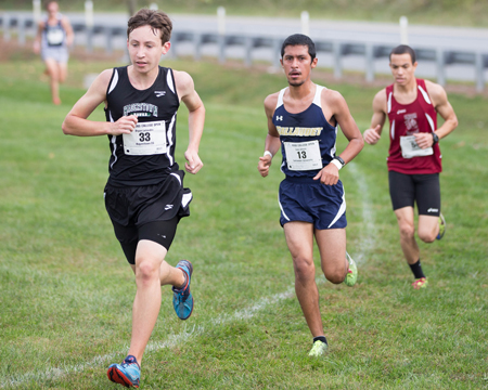 Alfaro, Clark finish in the top 28 as men's team finishes 8th at NEAC championships, women finish 11th