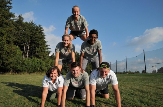 2018 Cross Country Team Pyramid
