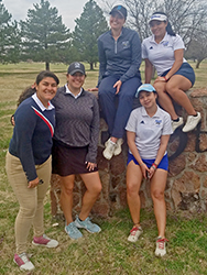 Barton women's golf team following record setting round to win Barton Invite
