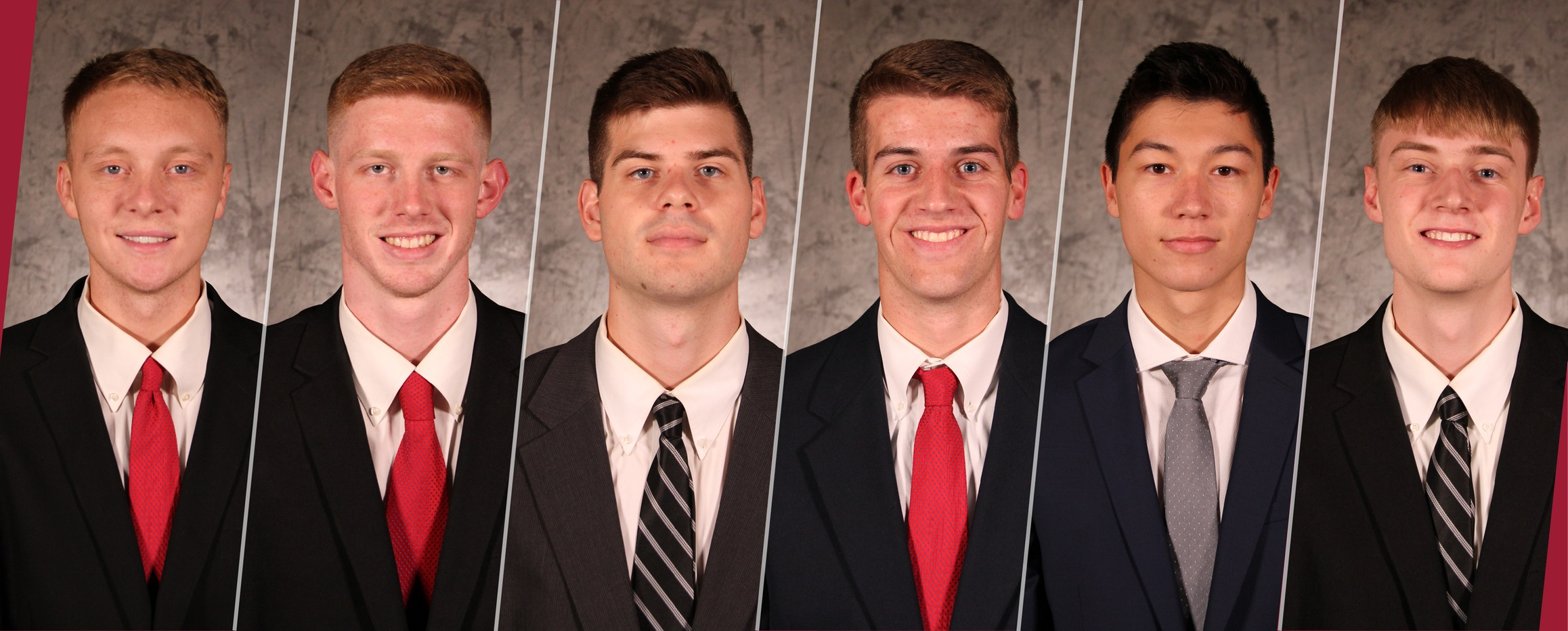 From left: Sam Amsbaugh, Taylor Filbert, Cayce Good, Kam Hartung, Ben Rajewski and Tyler Stumbo