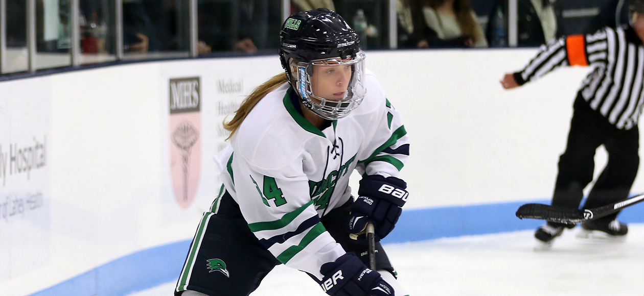 Women's Ice Hockey Stymies Nichols, 5-0