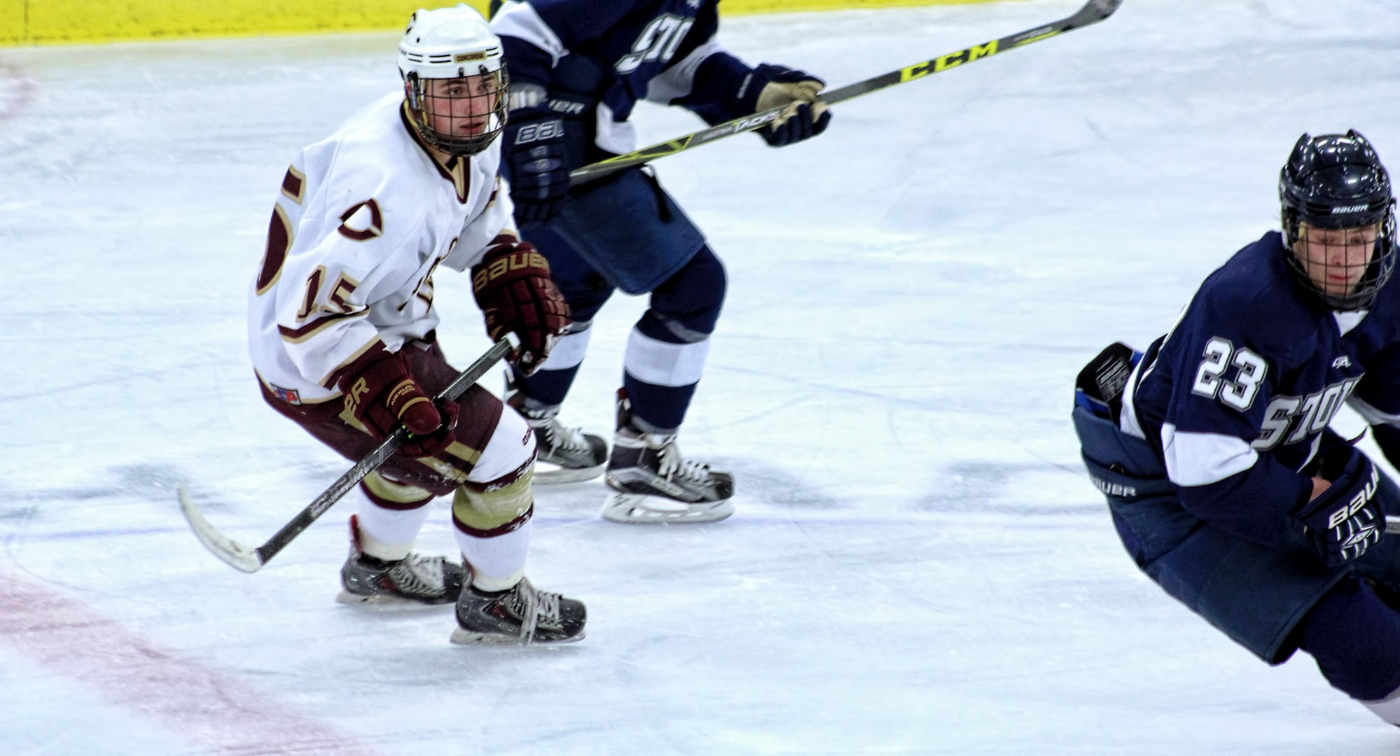 Junior Mario Bianchi scored the game-winning goal in the Cobbers' 3-2 victory at Wis.-Stout.
