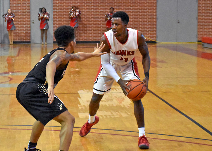 Andre Ashley had 13 points, seven rebounds and four assists in Saturday's 75-72 loss to Covenant. (Photo by Wesley Lyle)