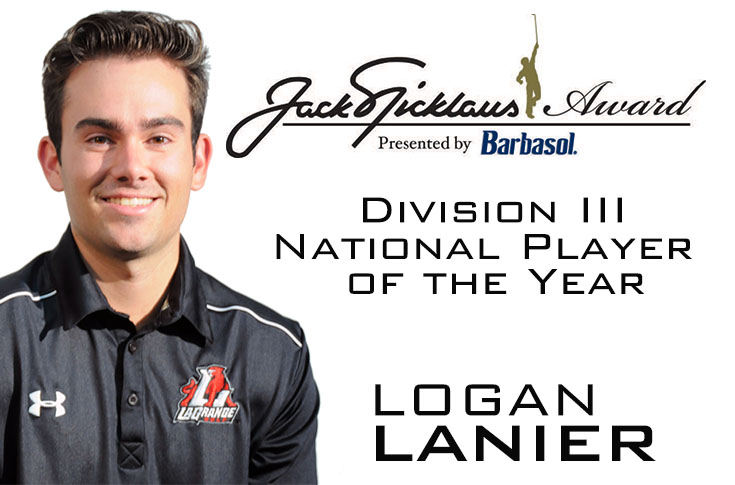 Golf: Lanier named Jack Nicklaus Award Division III National Player of the Year