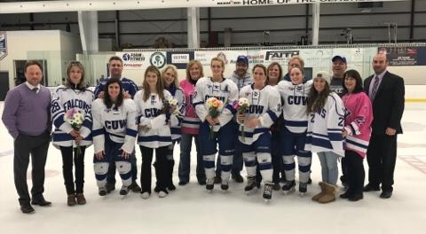 Women's Hockey season ends with setback against UWSP