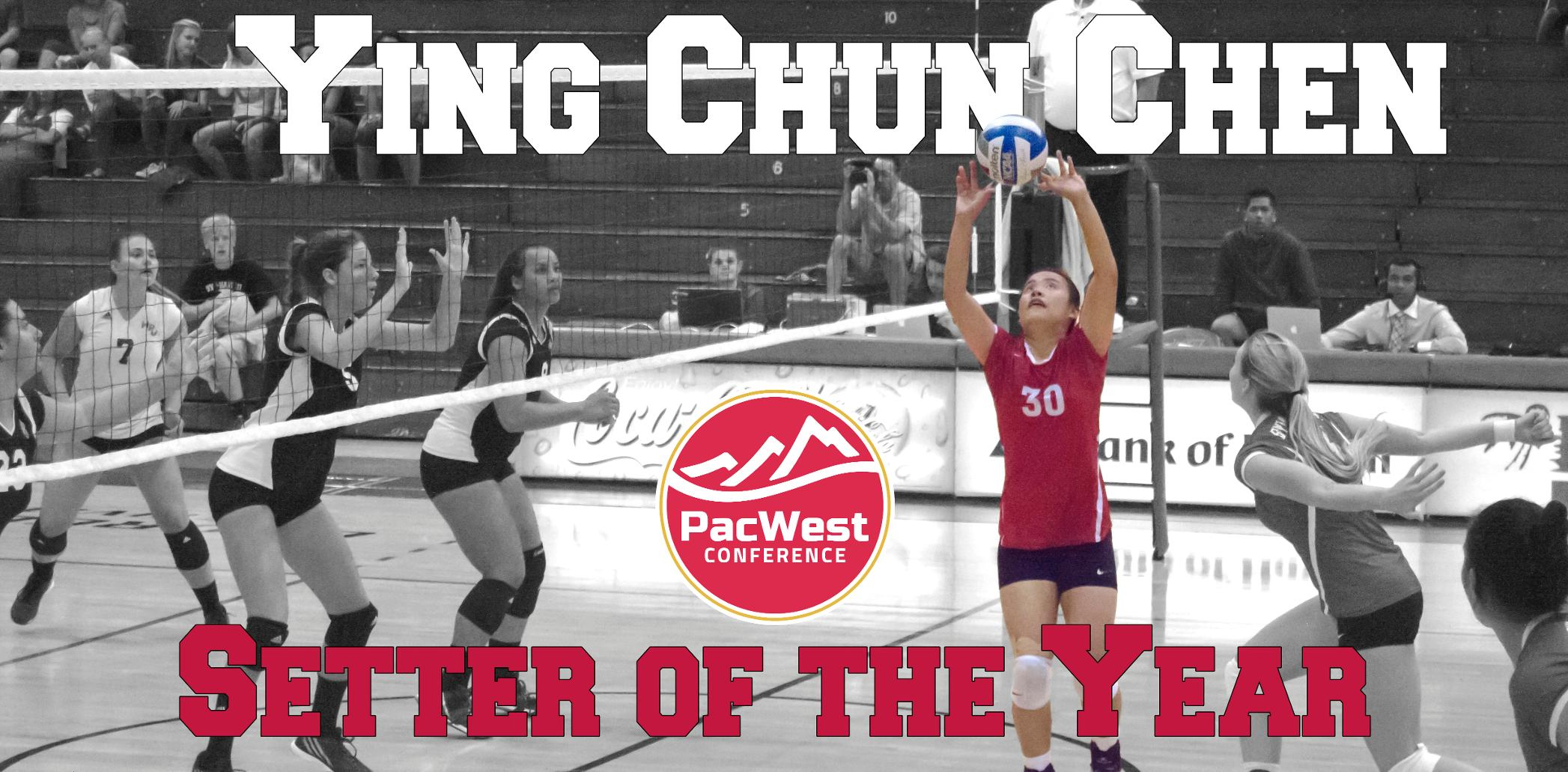 Ying Chun Chen named PacWest Setter of the Year