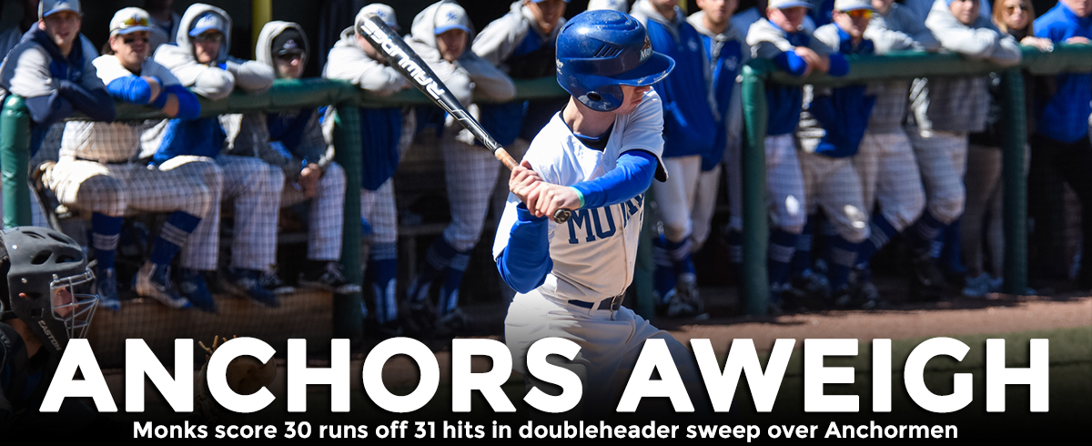 Monks Score 30 Runs off 31 Hits in Doubleheader Sweep over Anchormen