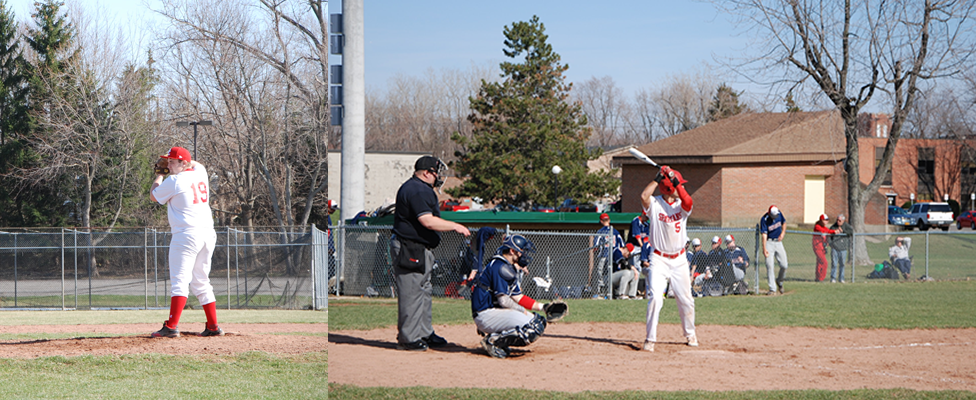 Baseball Swept in Doubleheader
