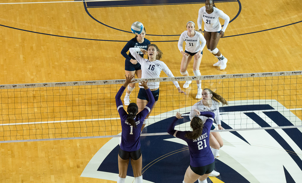 Emory Volleyball Notches Sweep At Covenant College