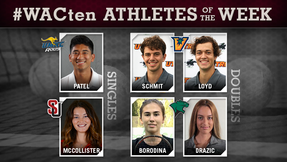 WAC Tennis Athletes of the Week Announced