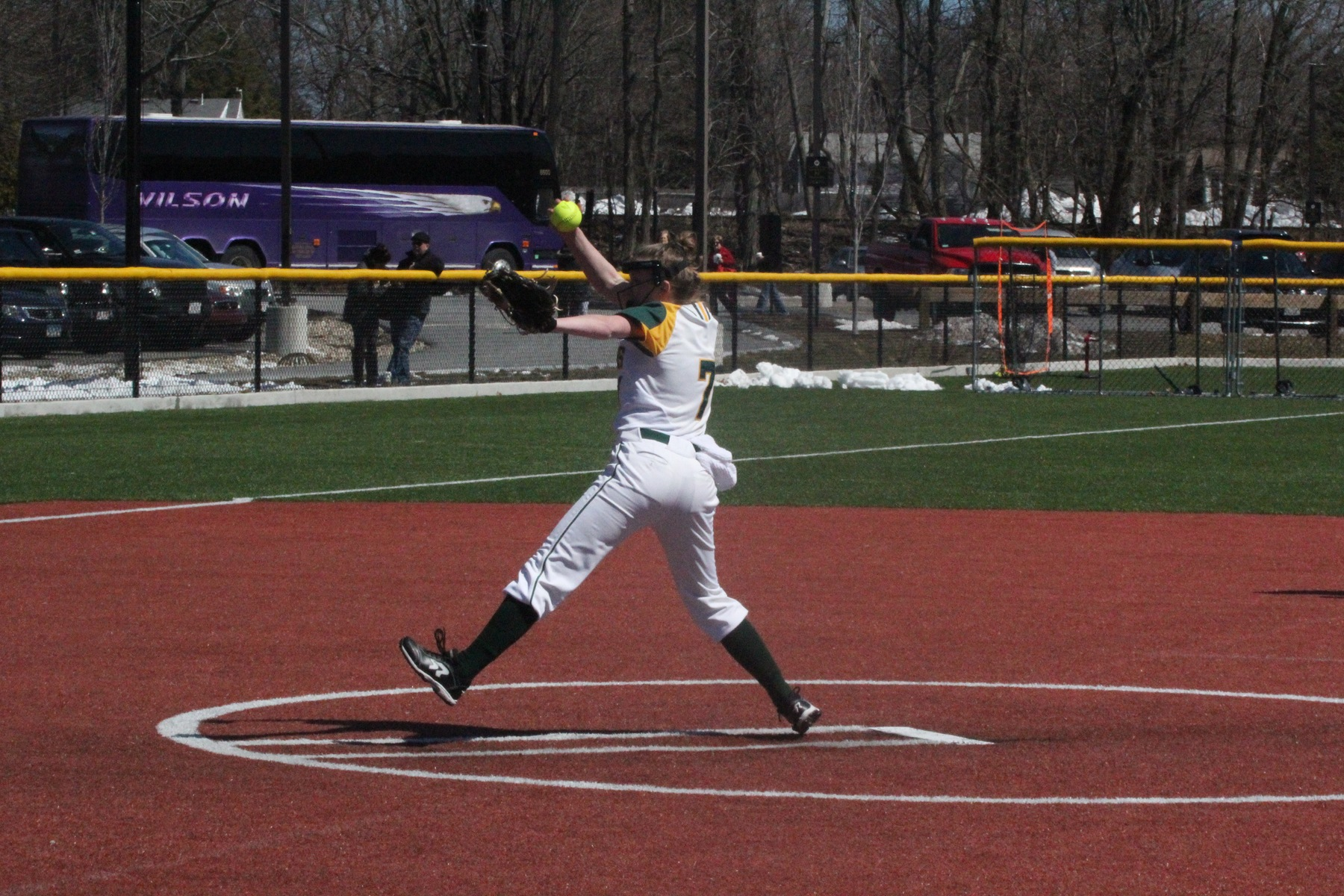 Softball Splits with Engineers, Medina with Game Winning HR