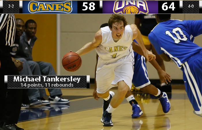 Tankersley's Double-Double Not Enough Against UNA