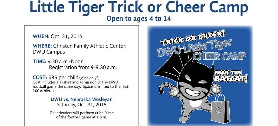 DWU Cheer to Host Little Tiger Trick or Cheer Camp on Oct. 31