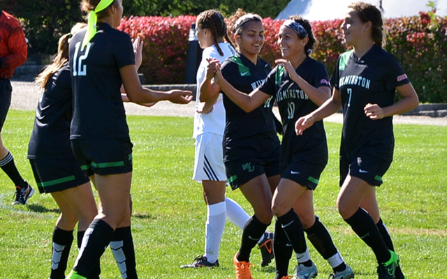 Loran Wyrough Scores Four Goals to Lead Wilmington Women's Soccer to a CACC Victory, 4-2, at Nyack