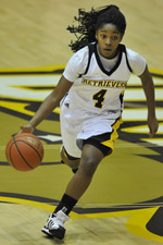 Lauren Chase recorded nine points and seven assists against New Hampshire.