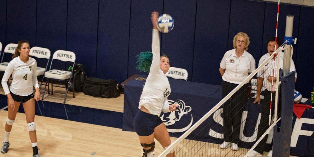 Multiple Rams Post Career Nights in Volleyball's 3-1 Setback to Rivier