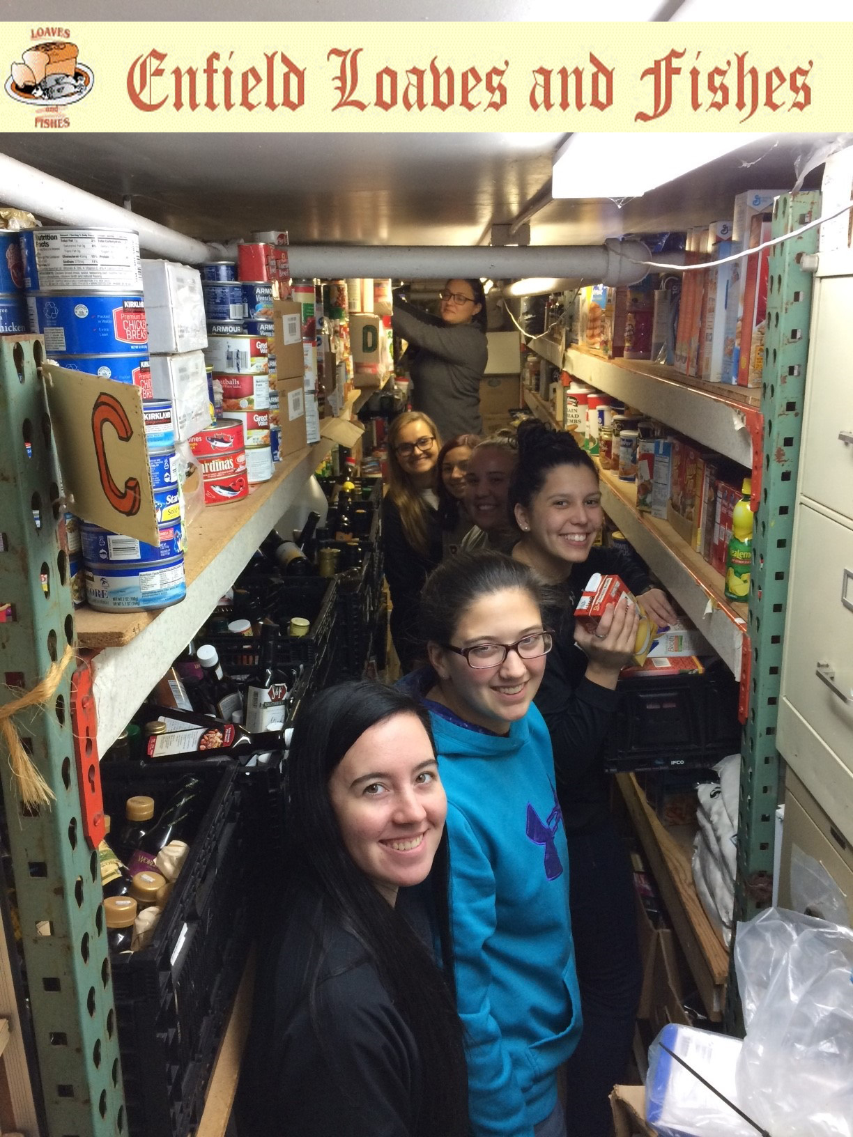Bay Path student-athletes provide  needed support at local Enfield Loaves & Fishes Shelter