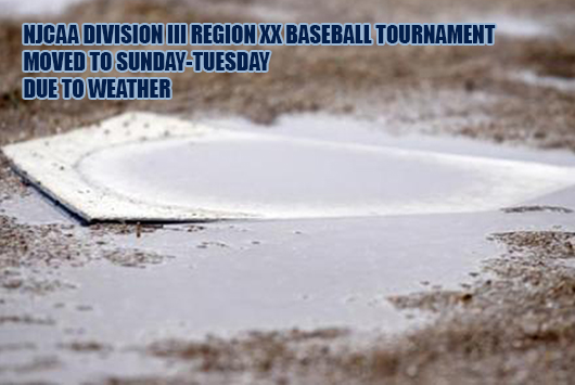 NJCAA Division III Region XX Baseball Tournament To Start On Sunday Due To The Weather