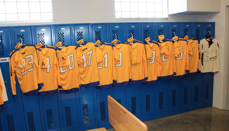Pioneer Stadium Locker Rooms