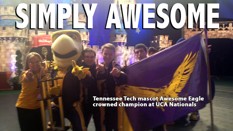 SIMPLY AWESOME: Tech mascot crowned UCA National Champion