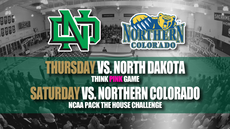 Women's Hoops Hosts North Dakota anad NOrthern Colorado this Week in the Nest