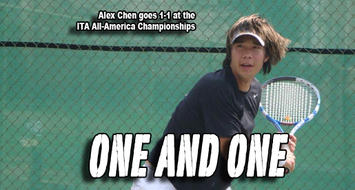 Chen goes 1-1 at ITA All-America Championships