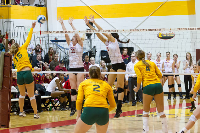 Bulldog Volleyball Upset By Wayne State In GLIAC Quarterfinals