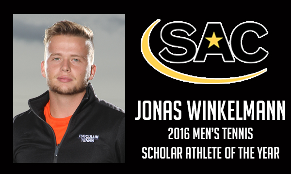 Winkelmann named SAC Men's Tennis Scholar Athlete of the Year