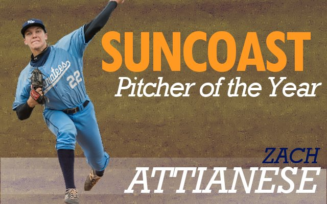 Zach Attianese Named Suncast Conference Pitcher of the Year