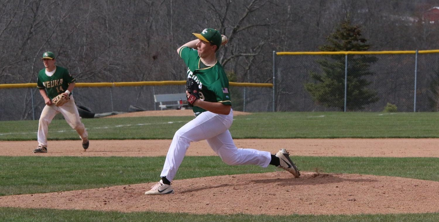 Daniel Steve (29) got the win, throwing all nine innings for Keuka College -- Photo by Ed Webber
