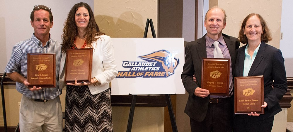 Gallaudet adds seven new members to its Athletics Hall of Fame