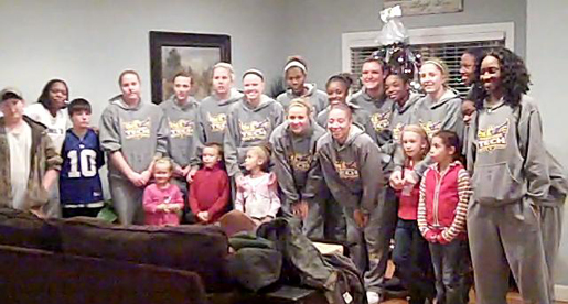 Tech women's basketball visits children at Mustard Seed Ranch