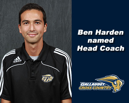 Ben Harden takes over Gallaudet men's and women's cross country coaching duties