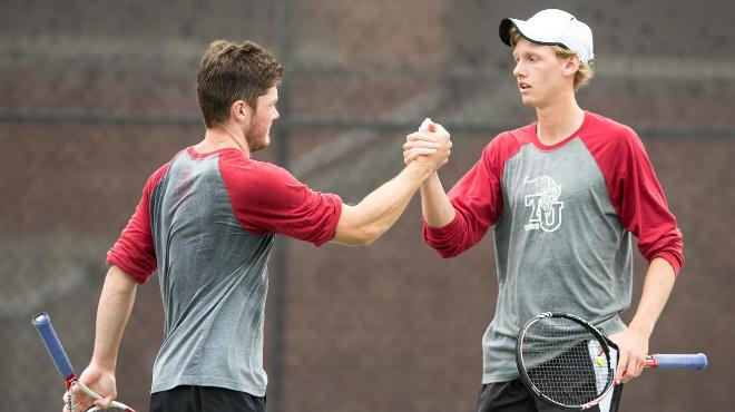 Trinity Men's Tennis Sweeps Singles and Doubles Titles at ITA Regionals