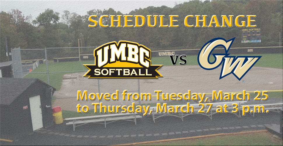 Softball Versus George Washington Moved to Thursday