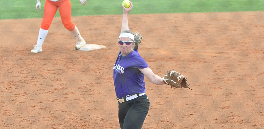 Abby Mork pitcher herself to a win against Concordia.