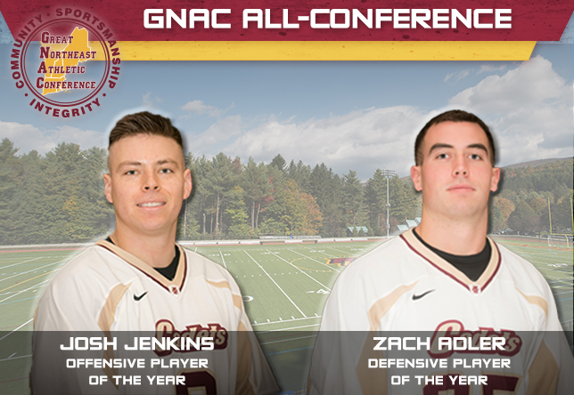 Men's Lacrosse: Jenkins and Adler headline Norwich's eight GNAC All-Conference recipients