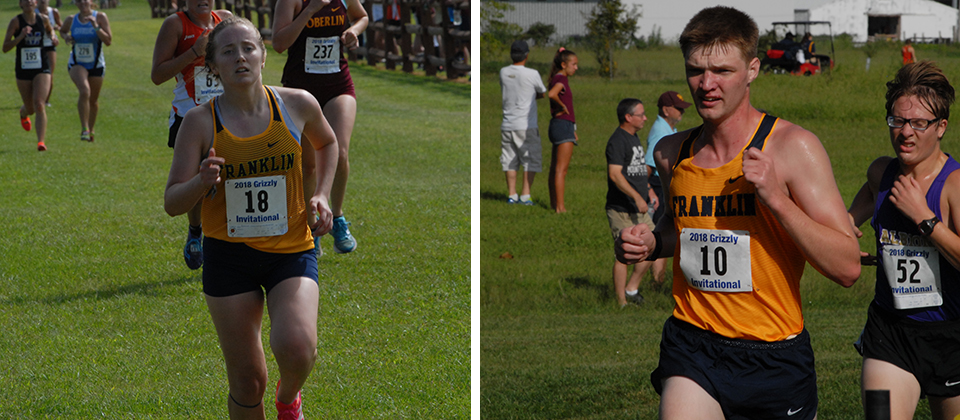 Krista Robinson (left) paced the FC women and Adam Rector (right) set a new PR in the men's race