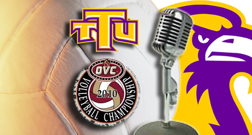 Listen to Golden Eagles in action at OVC volleyball tournament