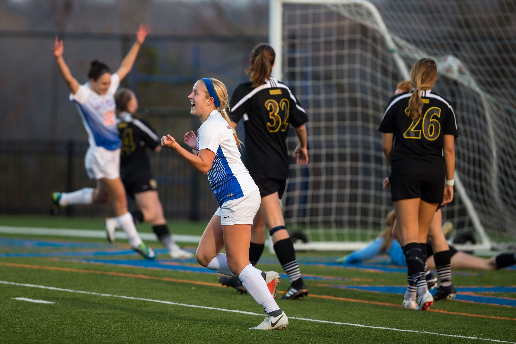 Steffens' goals over Titans secure Pioneers' place in WIAC Tournament