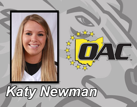 Newman named OAC Pitcher of the Week for Softball