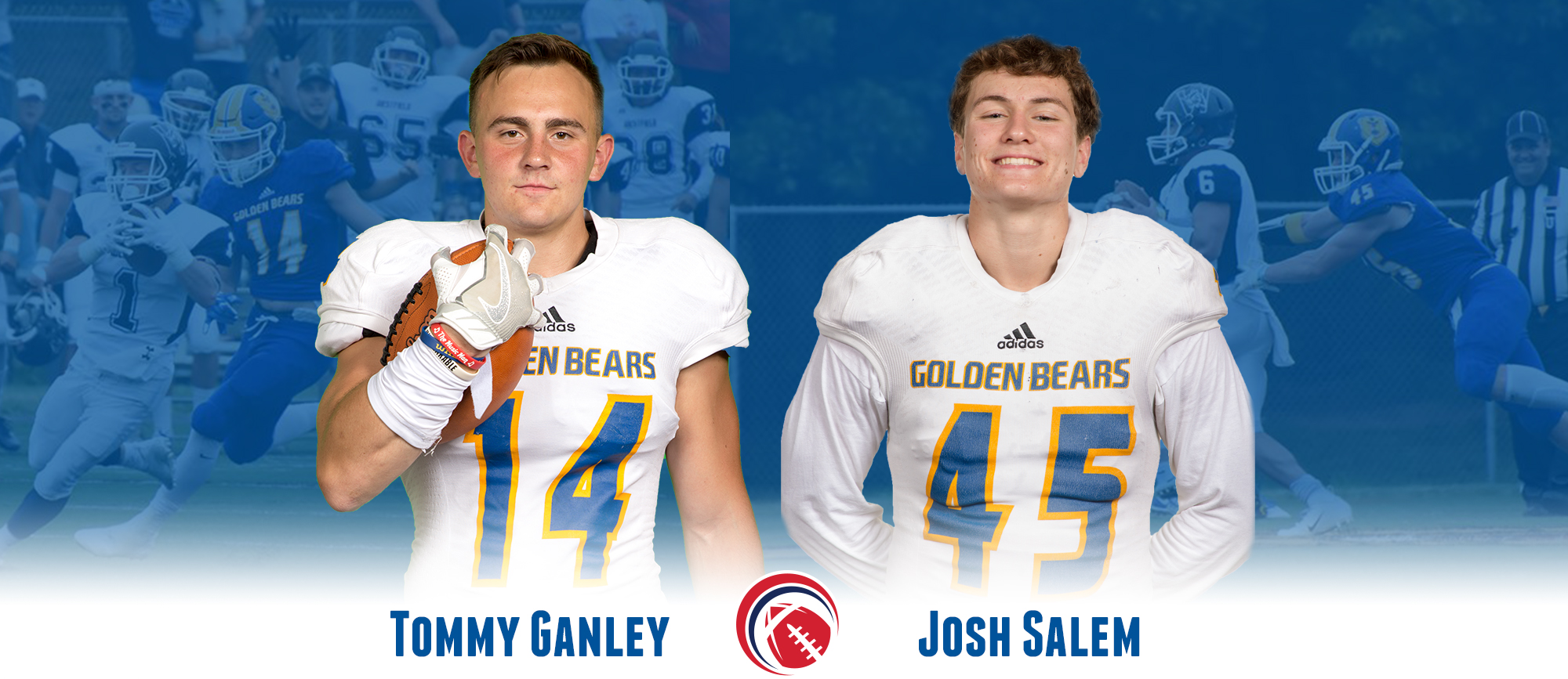 Ganley & Salem Earn CCC Football Weekly Defensive Awards