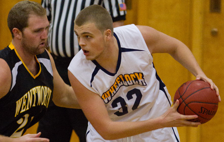 Wheelock Men's Basketball Squeaks By Regis in Overtime, 64-63