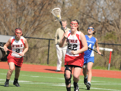 CUA pulls away from No. 17 Eagles to earn 12-8 win