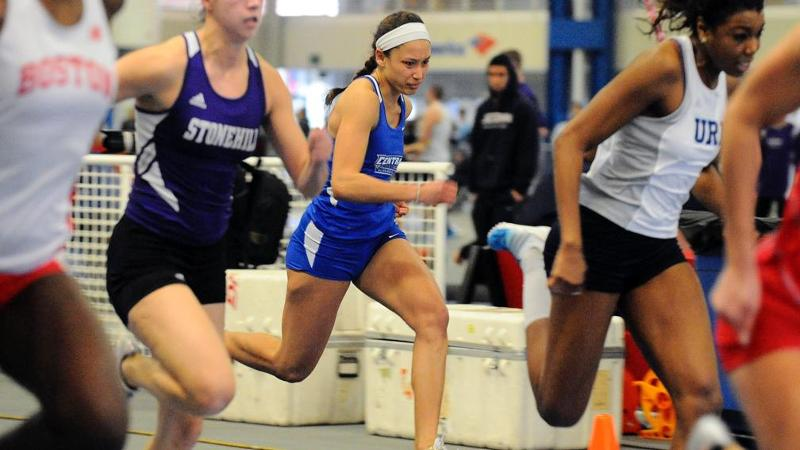 Women's T&F Sends Five to Finals Sunday