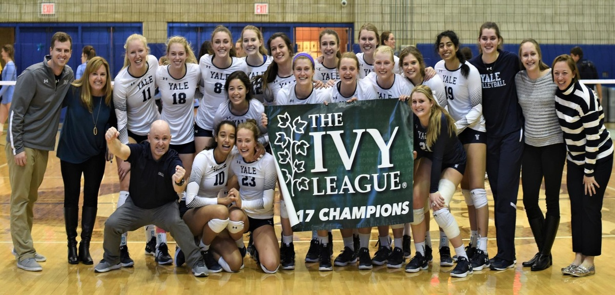 The 2017 Ivy League champion Yale women's volleyball team.