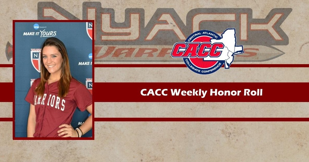 Katie Lupinacci Named to CACC Weekly Honor Roll