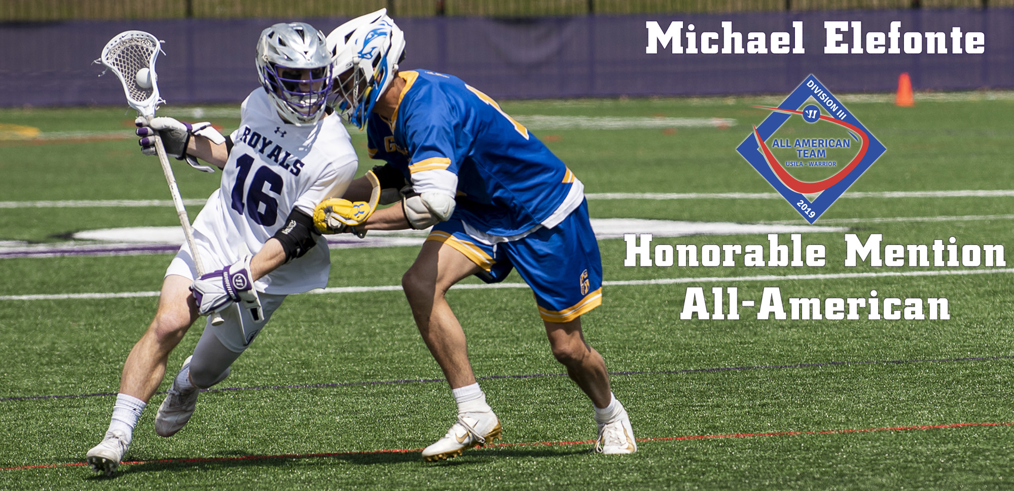Junior Michael Elefonte was honored as a USILA Honorable Mention All-American selection on Thursday.