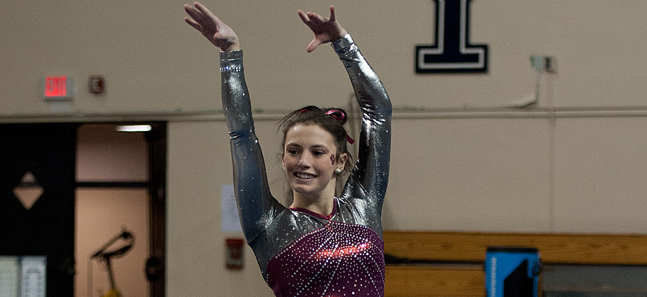 DeAngelo Earns All-America Honors in the All-Around at NCGA Championships