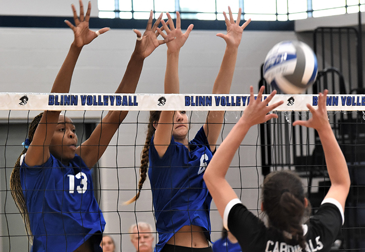 Blinn College Volleyball Team Picks Up Another Conference Win, Beating Trinity Valley Community College 3-0